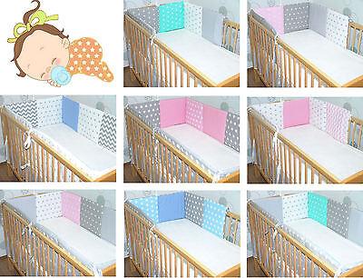 Baby Kinder 210cm oder 420cm RUNDUM NESTCHEN für Baby Bett 70x140