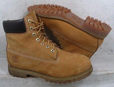 "NEW Timberland Mens Wheat Nubuck 6"" Waterproof Boots Shoes 10061 size mm 11 M*"