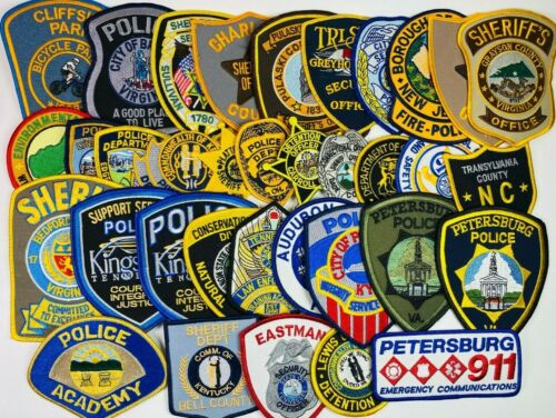 Huge Lot of 35 Police Sheriff Correction Patches Collection KY VA TN NJ