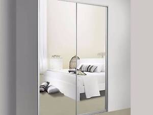 """MADE TO MEASURE"" 2 Wardrobe MIRROR SLIDING DOOR *upto 2.4m wide* Sydney City Inner Sydney Preview"