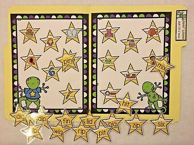 Leapin Lizards CVC I Words Teacher Made Phonics literacy Center File Folder Game