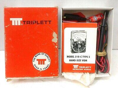 Triplett Model 310-c Vom Type 5 Box Manual Eveready Battery 504 Union Carbide