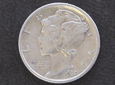 1938-S Mercury Dime 90% Silver U.S. Coin D8002 comprar usado  Enviando para Brazil
