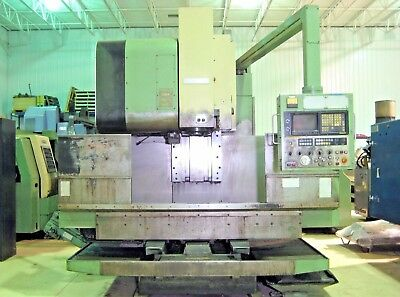 Mori Seiki Mv-55 50 Taper Cnc Vertical Machining Center Mill Fanuc Vmc Cat Chip