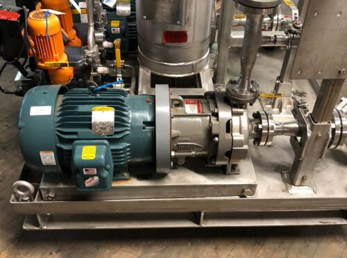 10 HP Flowserve Durco  316 Stainless Steel MAG DRIVE Pump with motor