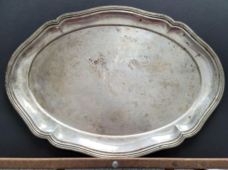 German Vintage Gunther Theodor Julius,  Berlin 800 Silver Tray Aprrox 1245 Grams
