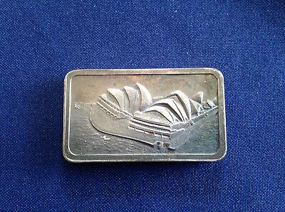 1974 Jacques Cartier Mint Opera House Sydney Australia Unlisted Silver Bar E5325