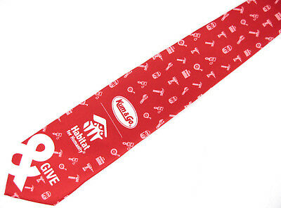 Kum   Go Habitat For Humanity Red Tool Tie Necktie 58 X 3 5