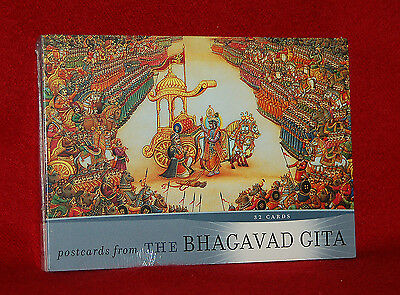 Postcards From The Bhagavad Gita - A Book Of 32 Postcards - - Hinduism