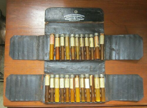 H K Mulford Doctor Travel Kit Apothecary Pharmacy Bottles Opium Poison Narcotic