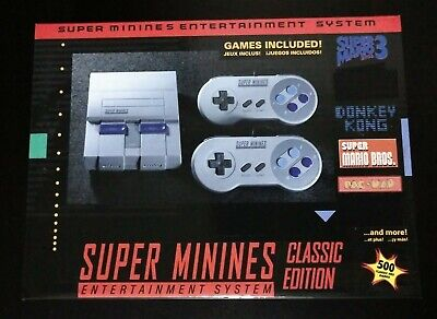 Super Nintendo Mini Classic 8Bit CLONE 500 Games 3 Day Priority Shipping