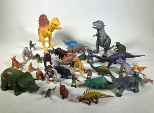 Vintage 1977-85 British Museum T-Rex Dinosaur Toy Figure Small - Large Lot of 32