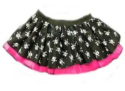 NEON PINK TUTU SKIRT 80S FANCY DRESS HEN PARTY FUN RUN LADIES FLO PIRATE SKULL - Flo Halloween Costume
