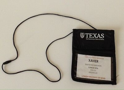 For sale UT University of Texas at Austin Identification ID Badge Neck Pouch Lanyard