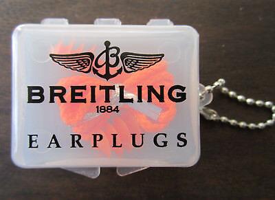 Breitling Earplugs in case, New!  Breitling 1884