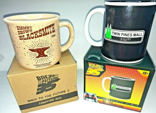 Back to the Future Mug Set Emmitt Brown Blacksmith & Twin Pines Color Changing