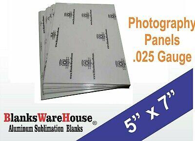 5 X 7 Photo Sheet -aluminum Sublimation Blanks White Square Corners - 20 Pcs