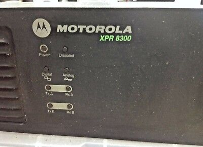 Motorola Xpr8300 Uhf Repeater Model Aam27trr9ja7an Used And Tested 403-470