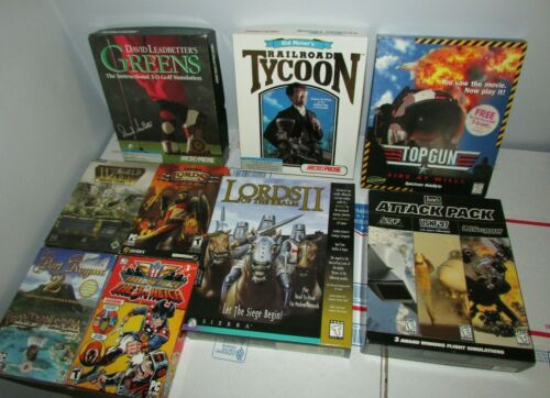 Lot of PC Games Vintage Big Box & Small Box