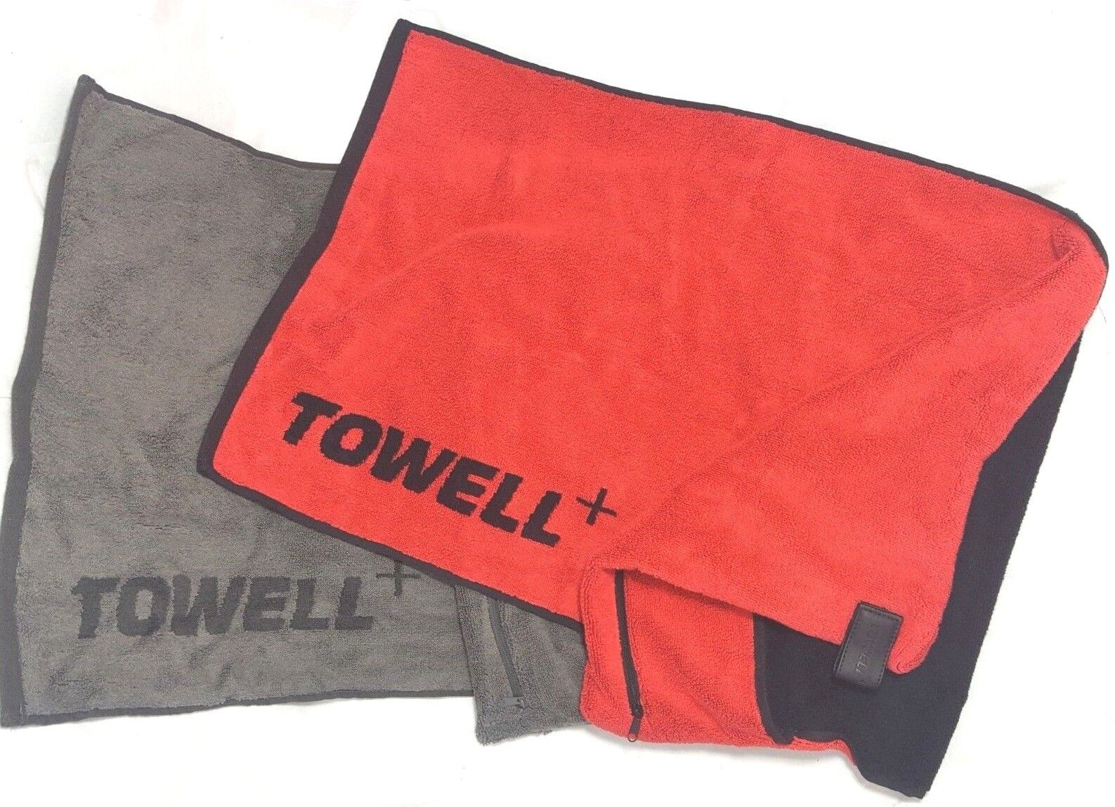 Towell Sporthandtuch Fitnesshandtuch Handtuch 40x90cm - Rot, Grau & Rot und Grau