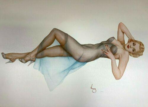 "Alberto Vargas ""sweet Dreams"" Deluxe Litho #123/200 Opalesque Paper"