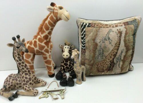 6 Pc Kids Room Giraffe Decoration Collection Pillow Plush Figurines
