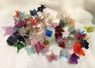 - 60 Mixed Mini Plastic Butterfly Hair Clips Hair Accessories