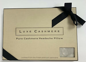 Luxe Pure Cashmere Hot or Cold Theropy Headache Pillow NEW