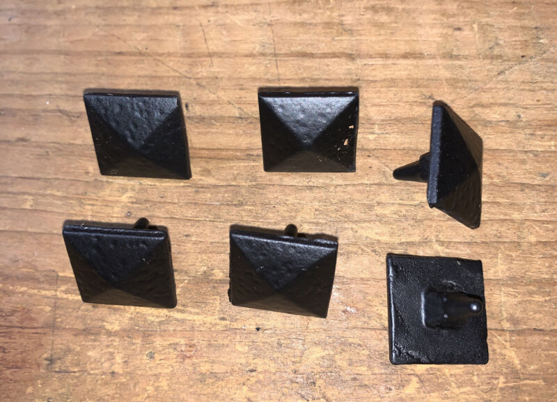 "Clavos 3/4"" Pyramid Head Decorative Black 6 pack Acorn Free Shipping"