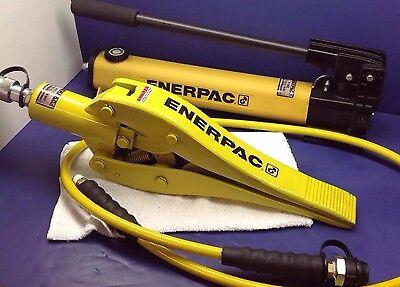 Enerpac Wr-15 Hydraulic Cylinder Spreader P392 Pump Set 6 Hydraulic Hose Nice