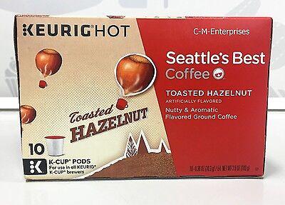Seattle's Best Coffee Toasted Hazelnut Coffee Keurig K-Cup Cups 10 Ct Seattles