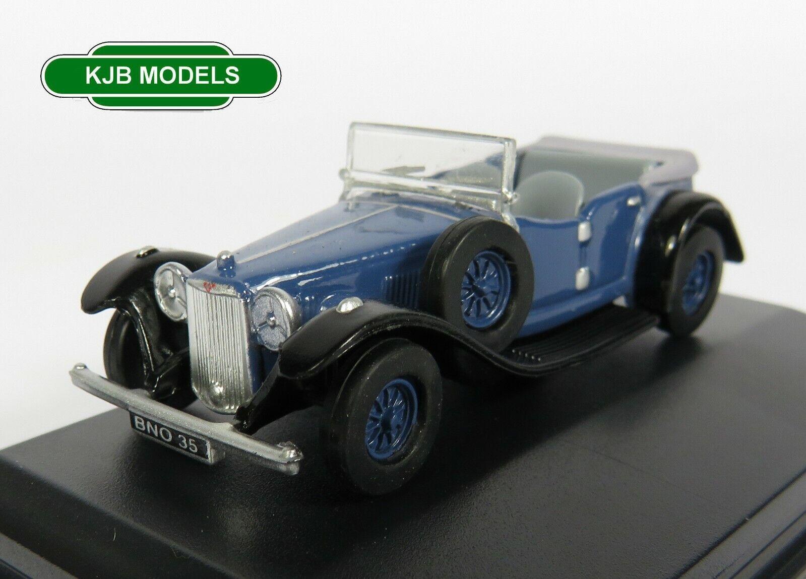 BNIB OO GAUGE OXFORD DIECAST 1:76 76ALV005 Alvis Speed Twenty Royal Blue