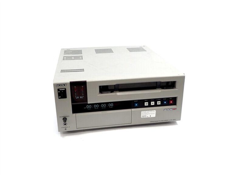 Sony Betacam SP UVW-1800 Video Editing Studio Recorder Tape Cassette Player
