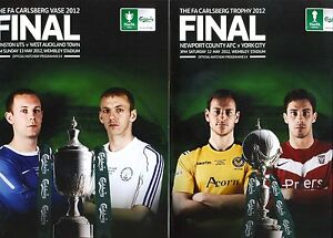 ** FA TROPHY & FA VASE FINALS 2012 BOTH PROGRAMMES **