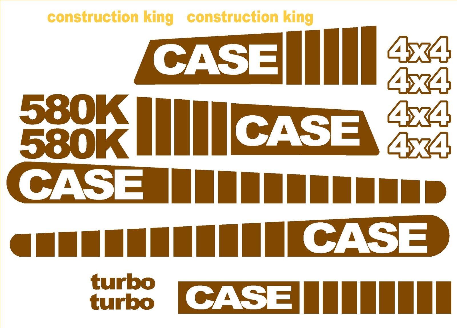 Case 580k 4x4 Loader Backhoe Construction King Decals Sticker Set Standard