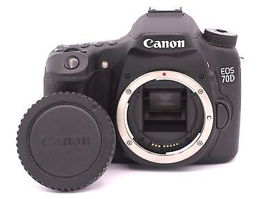 Canon EOS 70D 20.2MP Digital SLR Camera - Black (Body Only) - Shutter Count: 852