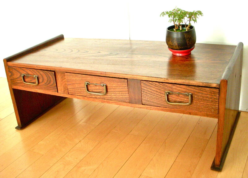 ANTIQUE - JAPANESE WRITING DESK - 3 DRAWERS - EARLY 1900
