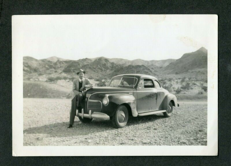 Vintage Car Photo 1941 Plymouth w/ Custom Spinner Hubcaps 405111