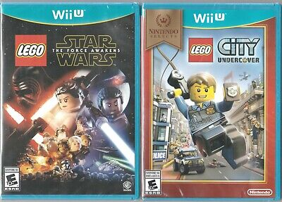 Nintendo Wii U NIP Game Lot ~ Lego City Undercover & Star Wars : Force Awakens