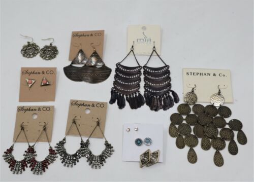 Lot of 10 Pair Vintage Style Earrings Studs Tribal Large Wholesale Stephan Co.
