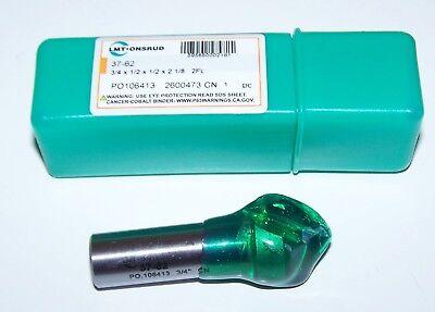 90 Deg V Bottom Bit 34 Dia 0.750 Carbide Tipped 12 Shank Onsrud 37-62