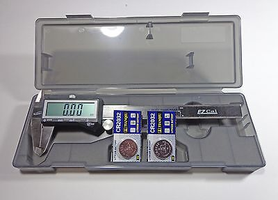 "6"" Electronic Digital Fractional LCD Caliper Stainless"