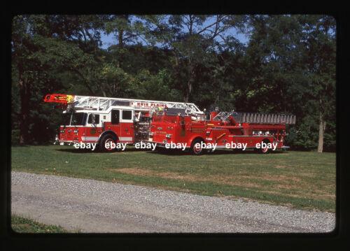 Morris Plains NJ Seagrave & Pirsch Aerial Old & New 1993 Fire Apparatus Slide