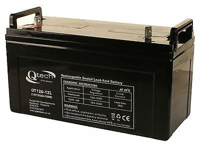 LEISURE Battery GEL AGM 120ah 12v Boat Yacht HEAVY DUTY Motorhome Marine Solar