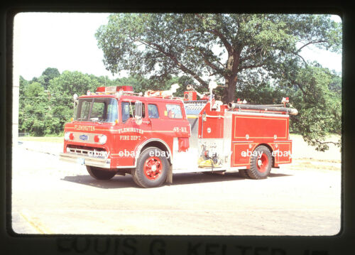 Flemington NJ 1983 Ford C Pirsch pumper Fire Apparatus Slide