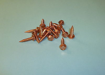 8 X 34 Self-piercing Zip Screws Copper Plated 410 Stainless Qty 50
