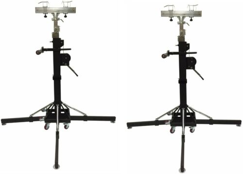 Two 18 FT DJ Heavy Duty Crank Up Lighting Stand With Outriggers Trusses Trussing