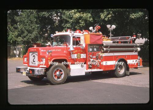 Carlstadt NJ 1971 Mack R pumper Fire Apparatus Slide