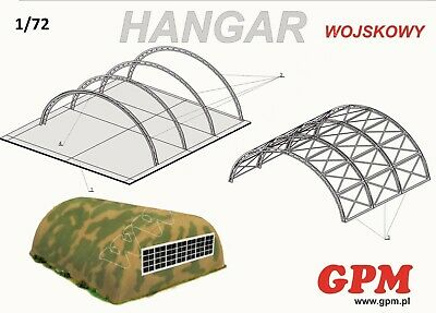 Military Hangar 1:72 scale  Model Kit   ( LASER CUT SET )  PREPAINTED