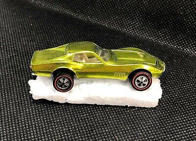 Hot Wheels Redline Custom Corvette Lemon-Lime NrMT Original White Interior USA